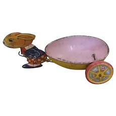 J Chein Easter Rabbit Pulling Cart