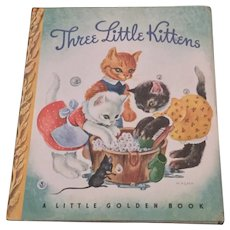 Three Little Kittens Little Golden Book With Dust Jacket