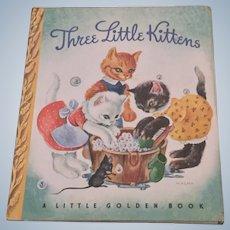 Three Little Kittens Little Golden Book With Dust Jacket