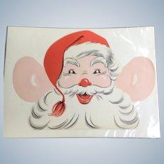 Vintage Santa Claus Children's Menu Gimbels Restaurant Milwaukee WI