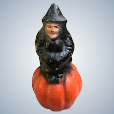 Halloween Candy Container Witch On A Pumpkin