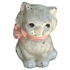 Precious Vintage Hubley Kitten Cast Iron Still Bank