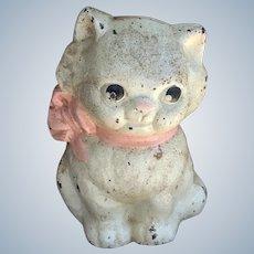 Precious Vintage Hubley Kitten Cast Iron Still Bank