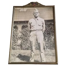 Vintage Patriotic Military Picture Frame
