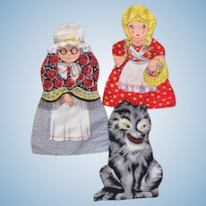 Printed Cloth Doll Patterns Little Red Riding Hood+