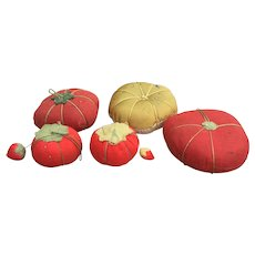 Vintage Folk Art Tomato Pin Cushions