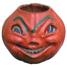 Large Pulp Halloween Jack O Lantern
