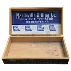 Vintage Mandeville & King Advertising Seed Box
