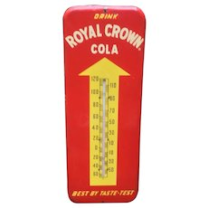 Vintage Royal Crown RC Cola Advertising Thermometer