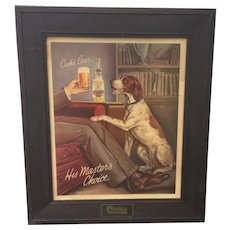 Vintage Cook's Goldblume Beer Advertising Poster In Original Cook's Frame