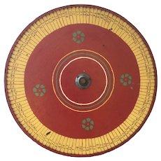 Folk Art Gaming Wheel In Original Paint
