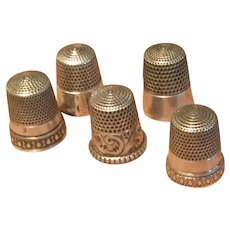 Sterling Thimble Collection