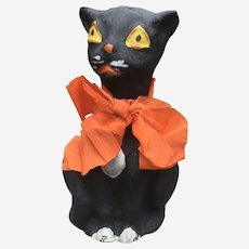 Black Cat Halloween Candy Container