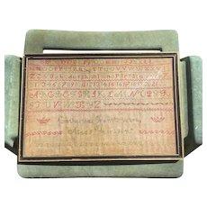 1847 Antique Needlework Sampler