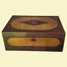 Simply Gorgeous Antique Inlaid Wood Document Box