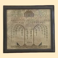 19th Century Mourning Memorial Sampler