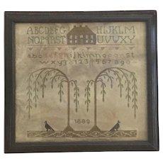19th Century Mourning Memorial Sampler