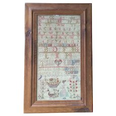 Lovely Antique Needlework Sampler Dated 1847