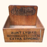 Aunt Lydia's Buttons And Carpet Thread Advertising Store Display
