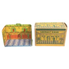 Marx Home Town Savings Bank With Original Box