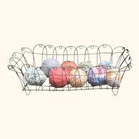 Large Antique Center Wire Basket