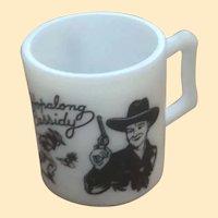 Child's Milk Glass Hopalong Cassidy Mug