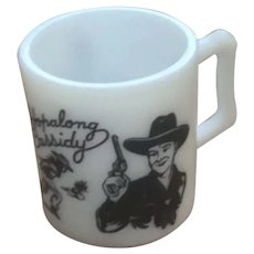 Child's Milk Glass Hopalong Cassidy Mug