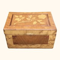 Intricate Inlaid Tiger Maple Sewing Box