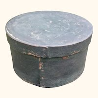 Large Antique Pantry Box In Original Windsor Green Paint