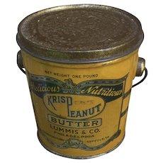 Krisp Peanut Butter Tin Pail