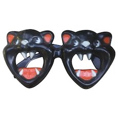 Halloween Scary Black Cat Glasses