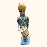 Wolverine Tin Litho Wind Up Drum Major Toy