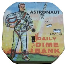 Vintage Astronaut Daily Dime Bank