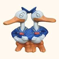30's Disney Double Donald Duck Toothbrush Holder