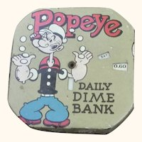 1956 Popeye Dime Register Bank