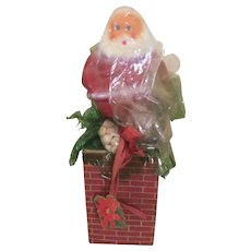 Santa On The Chimney Christmas Candy Container