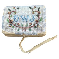 Antique Beaded Needle Case Theorem Graphics