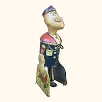 Marx Popeye With Parrot Cages Wind Up Toy