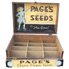 Page's Seeds Advertising Store Seed Display Box