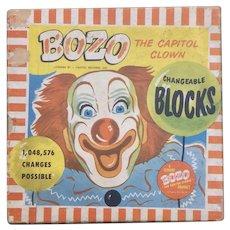Children's Wooden Bozo The Capitol Clown Blocks