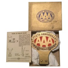 Fiftieth Anniversary AAA License Plate Topper NOS