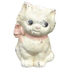 Hubley Sweet Little Cat Cast Iron Bank