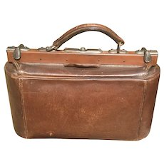 Edwardian Leather Travel Bag Satchel