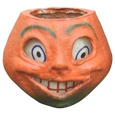Vintage Halloween Pulp Pumpkin Lantern