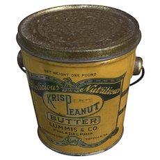 Vintage Krisp Peanut Butter Tin Pail