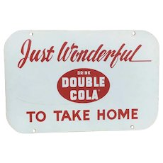 Double Cola Porcelain Advertising Sign