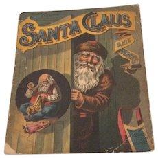 1889 McLoughlin Bros. Santa Claus And His Works Linen Book