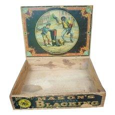 Black Americana Mason's Blacking Box