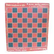 Red Seal Snuff Advertising Checker Board Premium