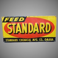 Standard Feed Embossed Tin Advertising Sign